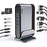Docking Station Baseus 17 em 1, universal Triple Display com portas HDMI * 3, áudio, Gigabit Ethernet, 5 portas USB, 100W USB