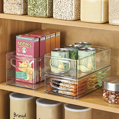 Amazon.Com: Mdesign Kitchen Storage Bins, Storage For Fridge