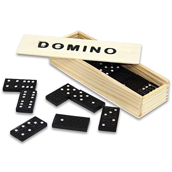 Domino Dominos Jeu de dominos dans une boîte en bois: Amazon.es ...