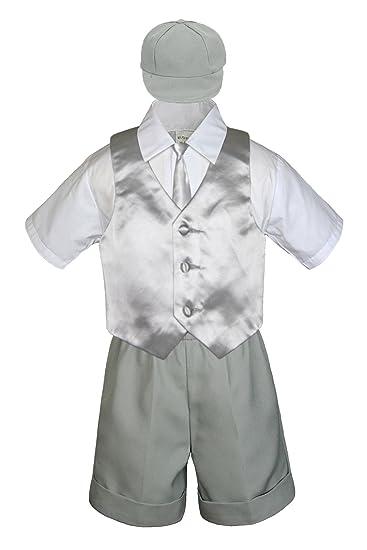 Amazon.com: leadertux 5pc Bebé Niño Plata chaleco corbata ...