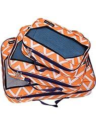 Jenni Chan Aria Madison Packing Cube 3 Piece Set, Orange, One Size
