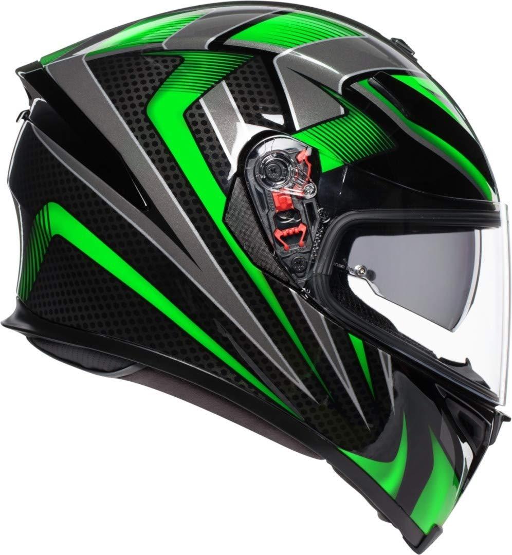 AGV K5-S Magnitude Nero Flo Giallo Motociclo Casco