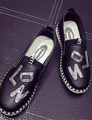Black Zapatos Gyht Uk4 Blanco De us5 negro comfort Eu36 Plano us6 Cn36 tacón Mujer Deporte semicuero mocasines Red 5 Cn35 Uk3 Zq exterior Rojo 5 qHpndw5q