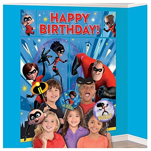 Disney Pixar Incredibles 2 Superhero Birthday Party Scene Setters With (Disney Halloween Screams)