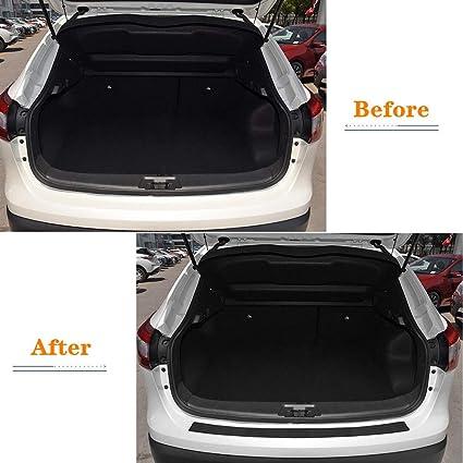 MARCHFA Car Bumper Protector Rubber Rear Bumper Guard Rear Bumper Cover Black Compatible for Qashqai 106CM