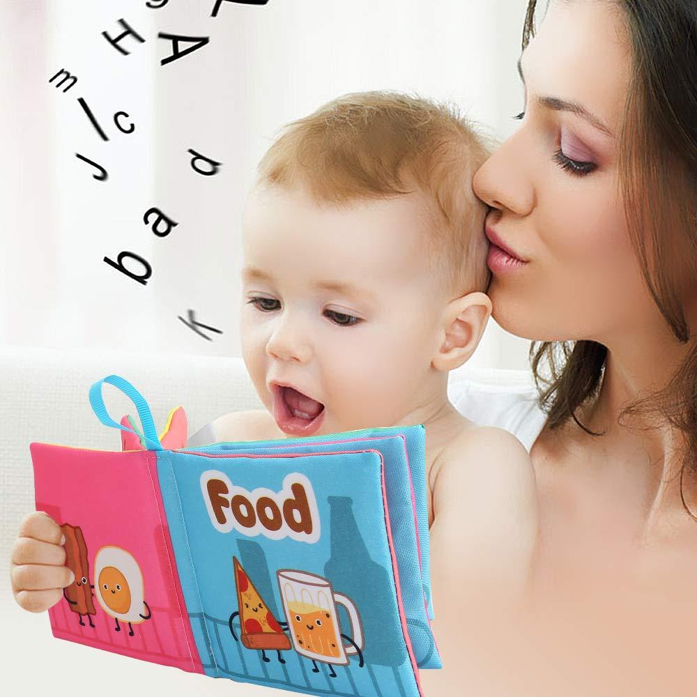 ,Kinder Geschenk BeebeeRun Stoffbuch f/ür Babys,6-Pack Baby Buch Baby Spielzeug Ab 0 Monaten