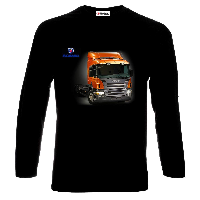 Scania Truck Drivers Logo Camisetas de Manga Larga Hombre Printed ...
