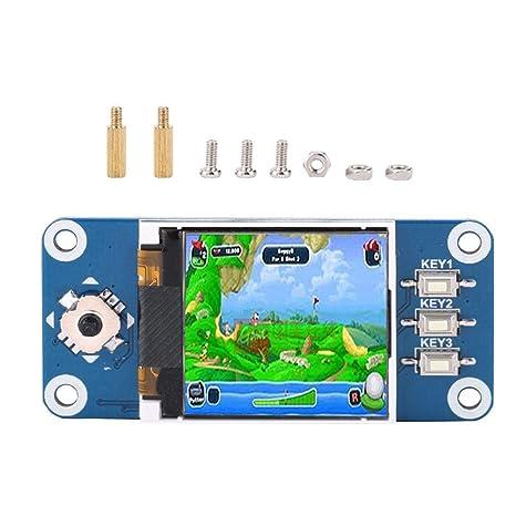 fosa 1 44 inch 128x128 SPI Monitor LCD Screen Display Module for Raspberry  Pi 2B / 3B / Zero/Zero W with Screw Kit, 1 Joystick (5 Positions), 3