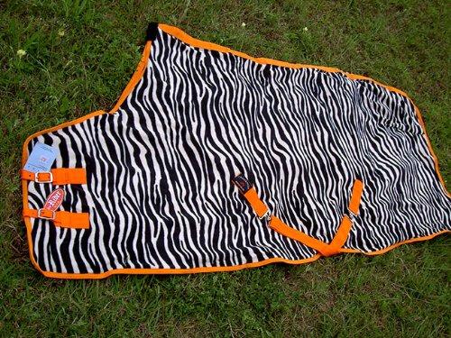 Challenger Horsewear 78  Horse Exercise Sheet Polar Fleece Cooler Blanket Zebra Wicks Moisture 4337