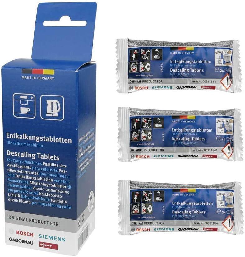 BSH 311864 pastillas descalcificadoras 00311864 para Siemens ...