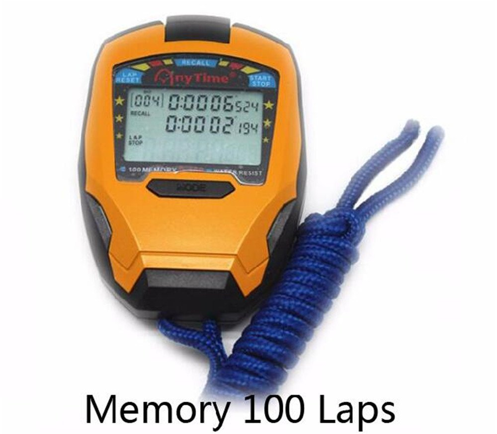 Amazon.com : Biscount Stopwatch Timer 3 Rows 100 Laps ...