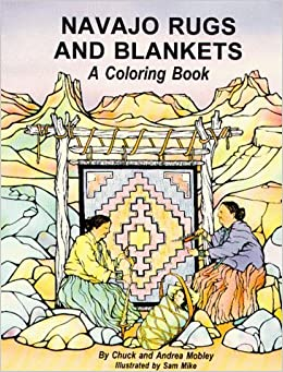 Navajo rugs and blankets a coloring book chuck mobley for Navajo rug coloring page