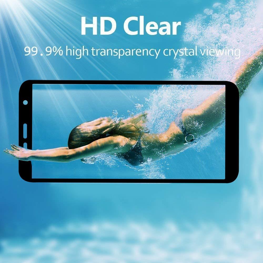 Ferilinso Cristal Templado para Samsung Galaxy J6 Plus /J6+ /J4 Plus /J4+, [2 Pack] [Cobertura Completa] Estuche Libre de Burbujas Película Protectora ...
