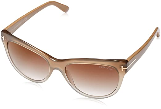 960d06353a6d4 Image Unavailable. Image not available for. Color  Tom Ford Sunglasses TF  430 Lily 59G Beige Transparent 56mm