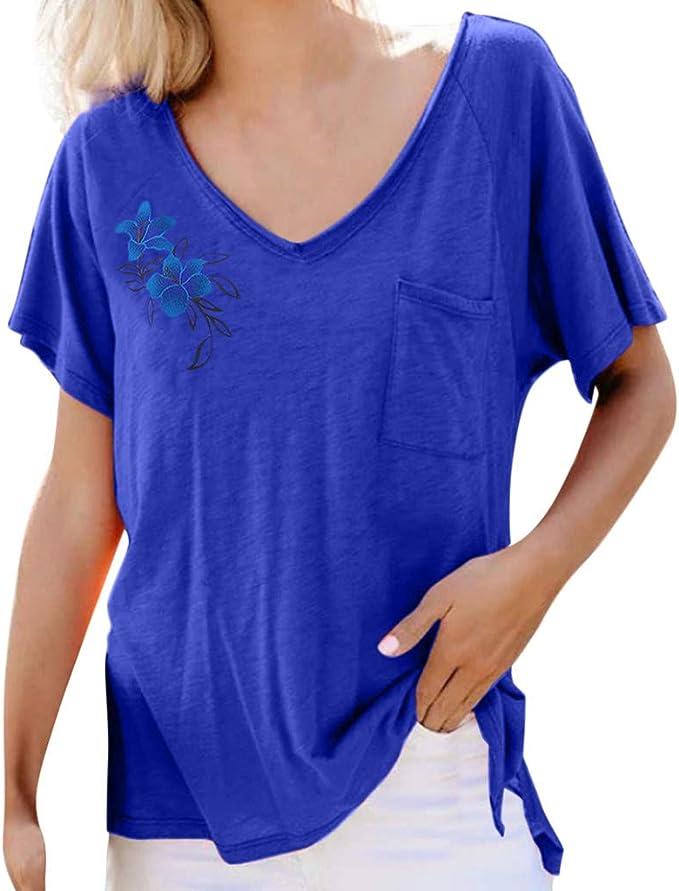 VEMOW Camiseta Verano T-Shirt Primavera Verano para Mujer ...