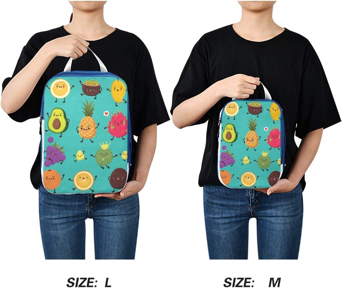s Fruits Cartoon 3 Set Packing Cubes,2 Various Sizes Travel Luggage Packing Organizers