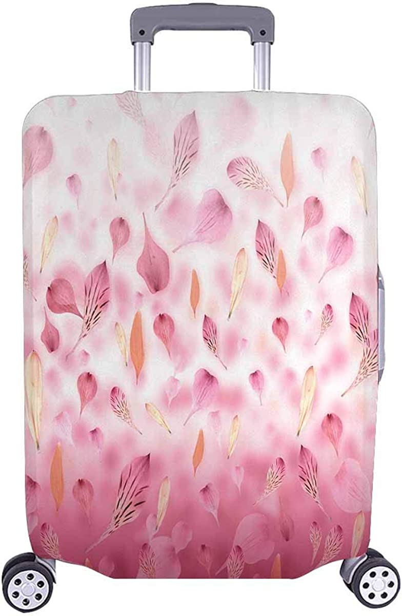 INTERESTPRINT Travel Luggage Protector Suitcase Covers Fit 18-28 Inch Pink and Red Flower Petals