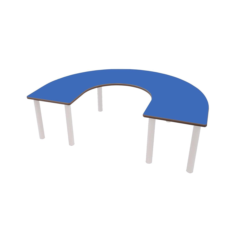Mobeduc de los niños en Forma de U Mesa, Madera, Azul Oscuro, tamaño 3, 150 x 120 x 59 cm
