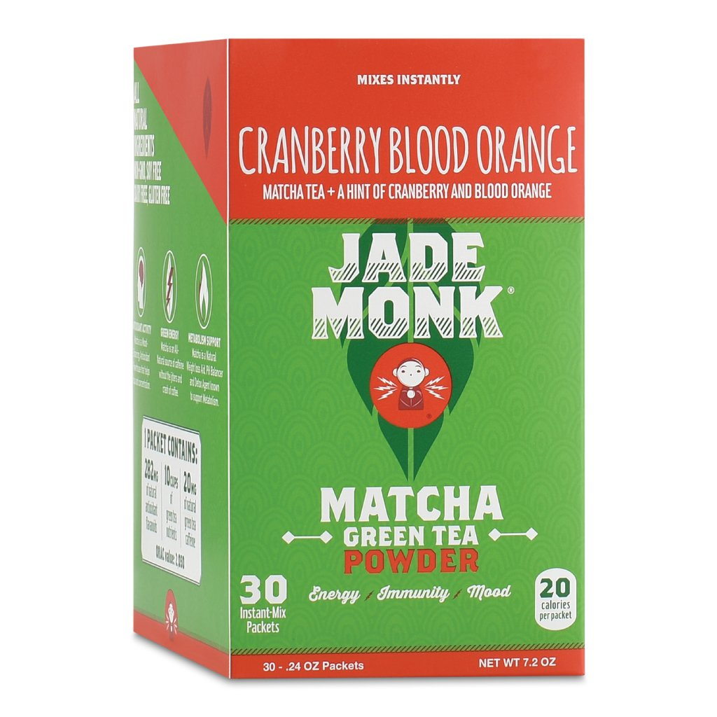 On-The-Go Matcha Green Tea Powder - Enjoy Anytime, Anywhere - All Natural Energy, Mixes Instantly - Perfect For A Busy Lifestyle - Cranberry Blood Orange, 30 Servings