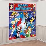 Dc Super Hero Girls Wonder Woman Supergirl Batgirl Party Scene Setter Decoration