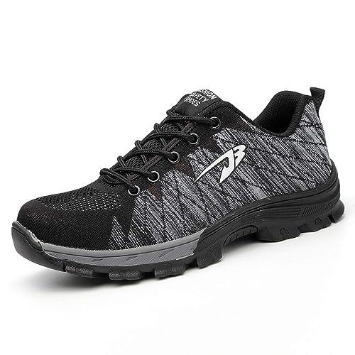 Zapatos de Seguridad para Hombre con Puntera de Acero Zapatillas de Seguridad Trabajo Calzado de Industrial y Deportiva Ligeros Comodos Transpirable Antideslizante