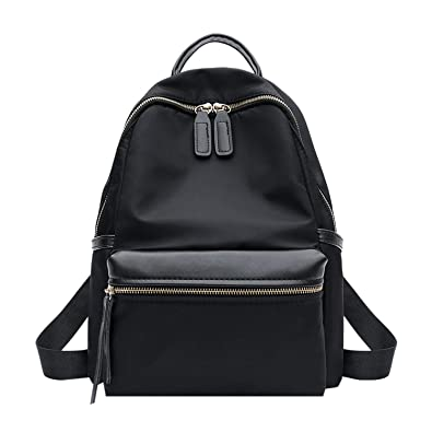 22f23bd3b98d Amazon.com: Mini Backpack Women Oxford Solid Color Simple Student ...
