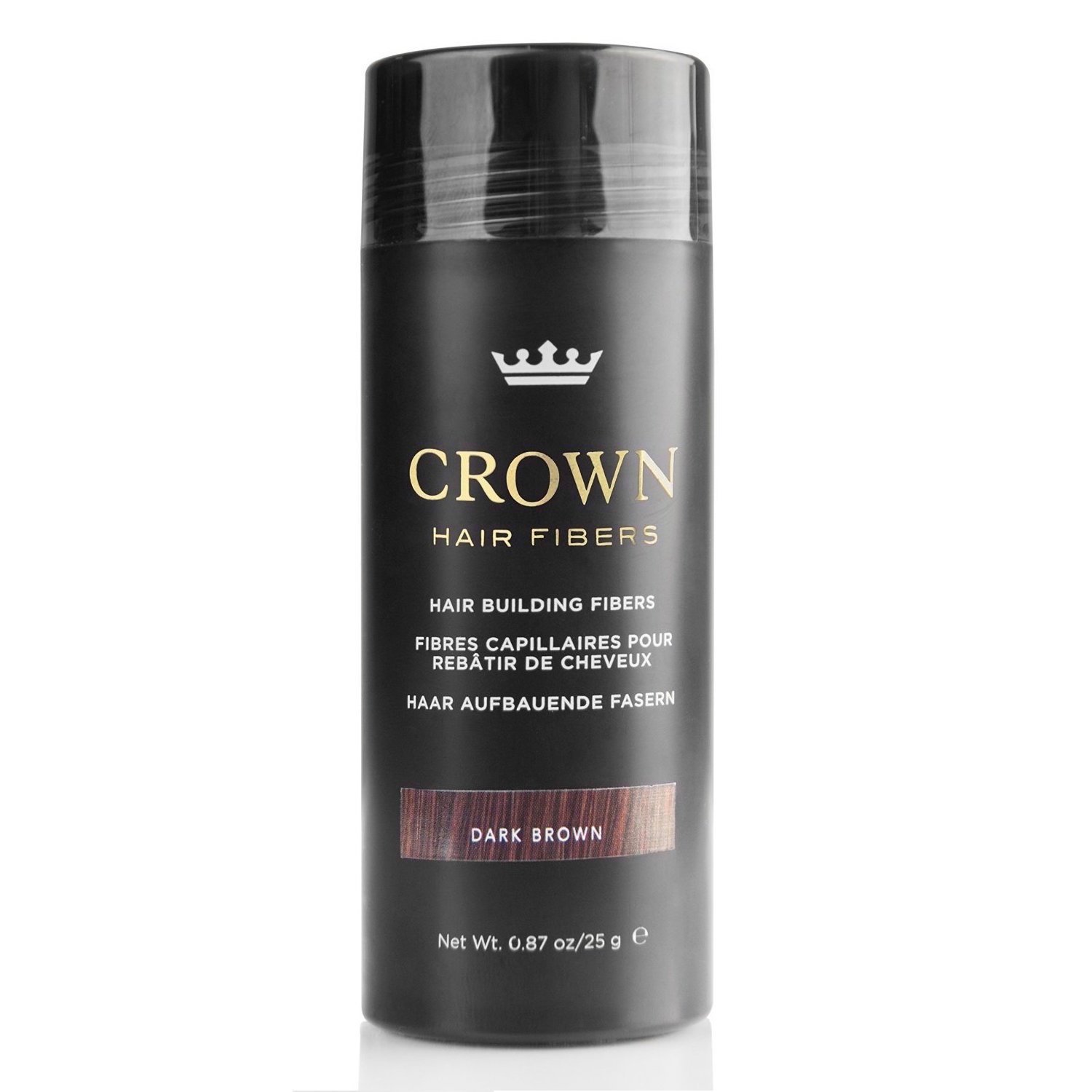 CROWN Hair Fibers - Best Keratin Hair Fibers Instantly Thickens Thinning Hair for Men and Women - Natural Hair Loss Concealer 0.87oz - Dark Brown