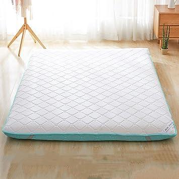 LINLIN 9 cm colchón de Esponja Plegable termostato Caliente Piso de Tatami Estera para Dormir Estera de Cama en casa Extra Grande,Green,120 * 200CM: ...