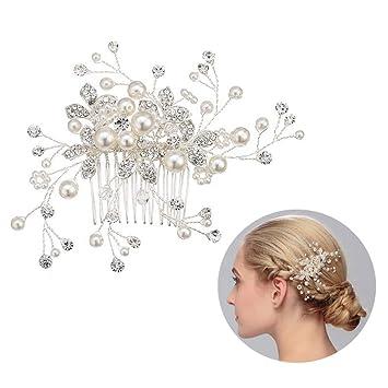 Kristall Perle Strass Haarnadel Haar Haarspange Haarklammer Retro Haarschmuck S+