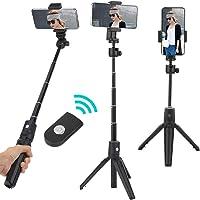 Tripé para bastão de selfie, 2 em 1 Suporte profissional multifuncional portátil para bastão de selfie de Bluetooth para…