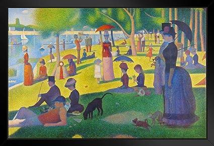 Georges Seurat Sunday Afternoon On Island of La Grande Jatte Art Print Cool  Wall Decor Art Print Poster 36x24