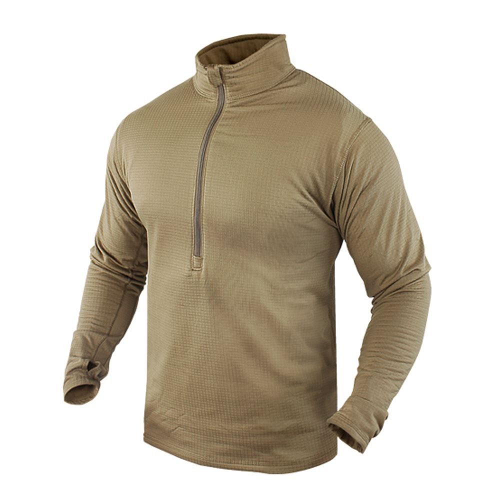 CONDOR 603-003-S BASE II Zip Pullover Coyote Tan S Condor Outdoor