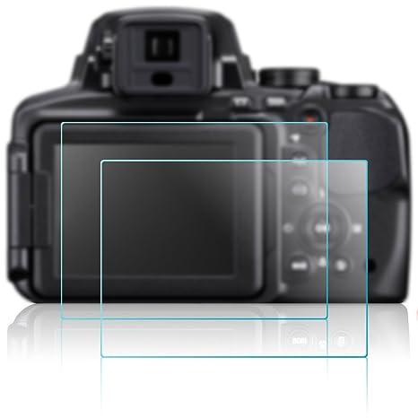 Cámara Protector de Pantalla para Nikon P900, AFUNTA 2 Pack Anti ...