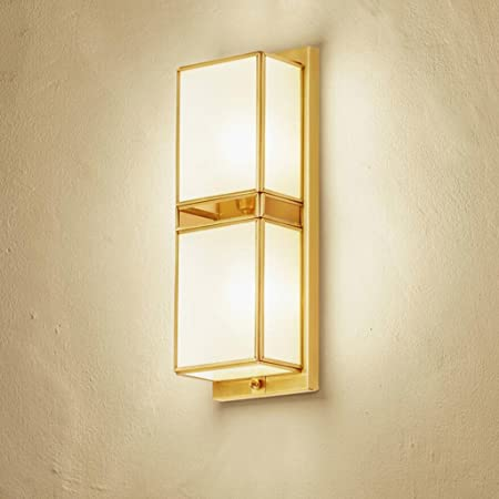 WYQLZ Brass Stairs Aisle Wall Lamp Hotel Bedroom Living Room ...