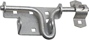 National Hardware N262-147 V1134 Sliding Bolt Door and Gate Latch in Galvanized,0