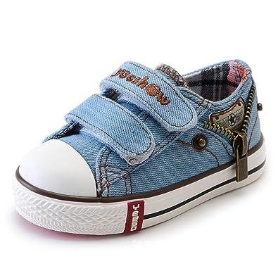 cd91d00204223 Toddler Chaussures pour Garçons Filles Garçons Filles Sneakers Enfants  Chaussures De Sport Respirant pour Enfants Toile Chaussures Première  Chaussures De ...