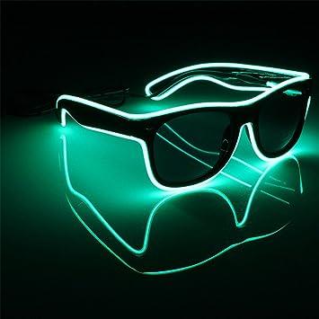 Originaltree LED Gläser EL Wire Light-Up Glow Sonnenbrillen Rahmen ...