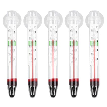 YCDC 5 Piezas ZY-01, Mini medidor de precisión de Cristal, Acuario pecera
