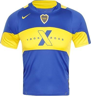 Nike - Camiseta del Centenario 2005 de los Boca Juniors, Todas Las Tallas Azul Azul Talla:Small: Amazon.es: Deportes y aire libre