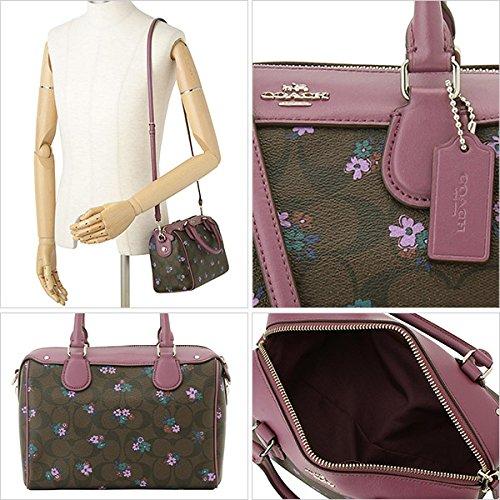 4f75e7231274 ... shop amazon coach bennett satchel in signature c ranch floral print  coated canvas silver brown multi