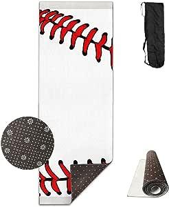 Amazon.com : QNKUqz Baseball Deluxe Yoga Mat Aerobic