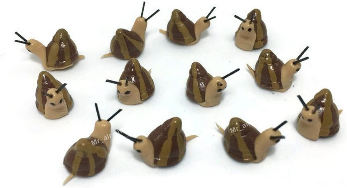 Mr_air_thai_Miniature Lot of 12 Miniature Snail Fairy Garden Supplies Animal Figurine Furniture Dollhouse GD#004