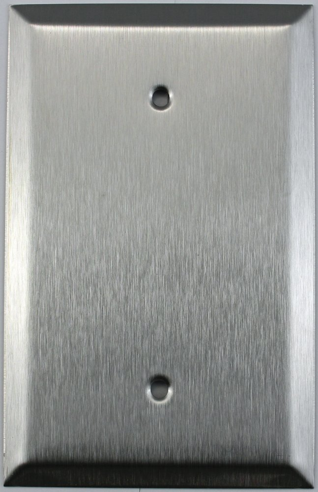 Over Sized Jumbo Satin Stainless Steel 1 One Gang Blank Wall Plate