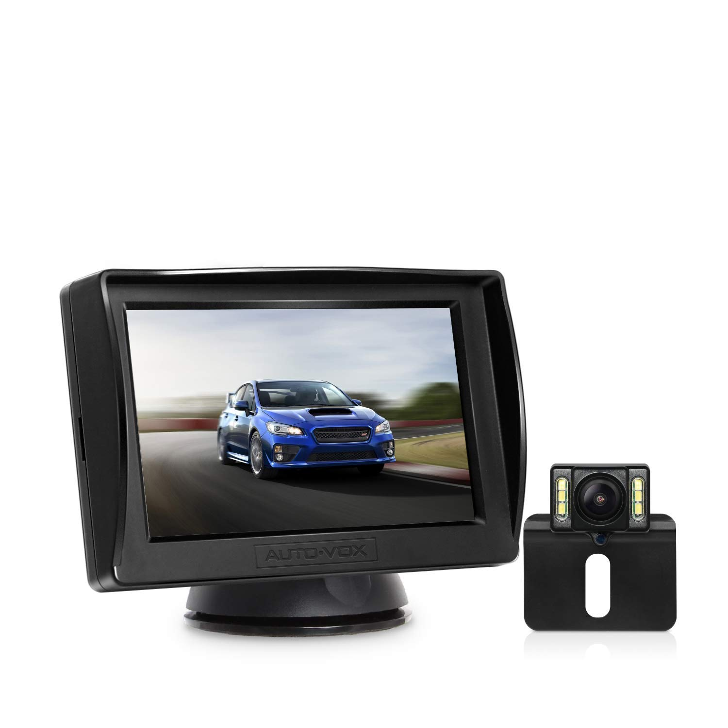 Upgrade M1PRO HD Backup Camera and Monitor Kit for CarsTrucksPickupTwo Wire Easy
