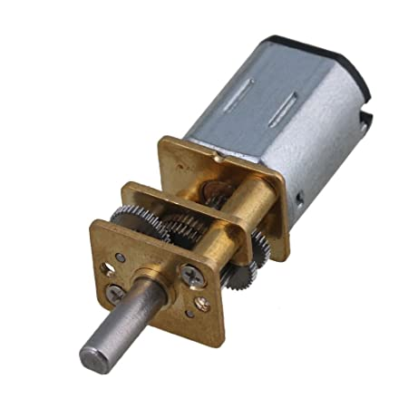 DC 3V~12V 10RPM Slow Speed Mini 16mm Full Metal Gear Motor Screw Shaft DIY Robot
