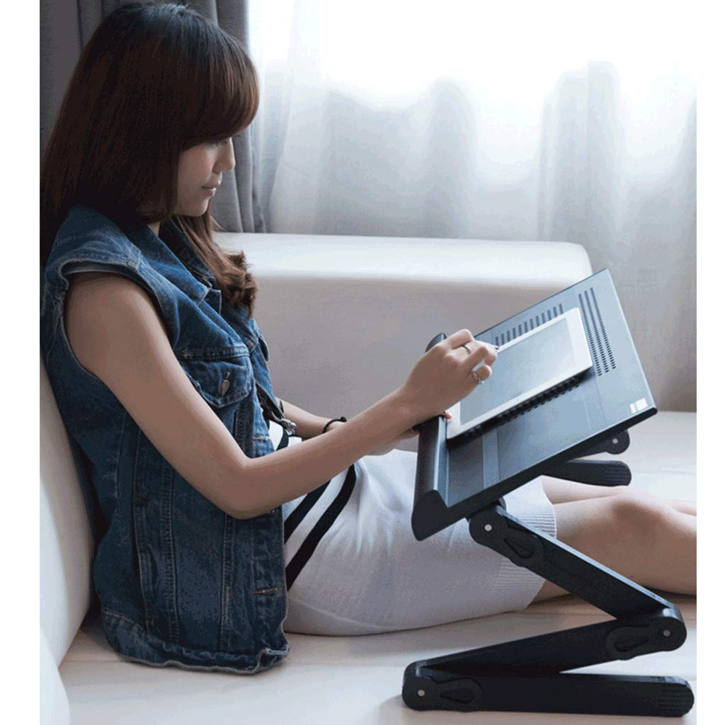 Reading Color : White Drawing Portable Panel Angle Adjustable Writing Foldable JXLBB Computer Desk Height Adjustable,with Mouse Pad Both Left and Right Hands Can Be Used