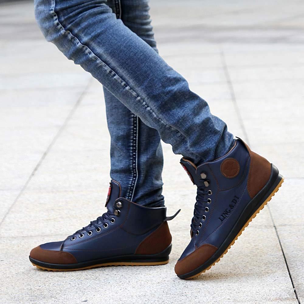 Botas de Senderismo para Hombre,Zapatos De Senderismo Antideslizantes para Hombre Zapatos para Caminar Al Aire Libre Sin Cordones Zapatos Casuales 39-44: ...