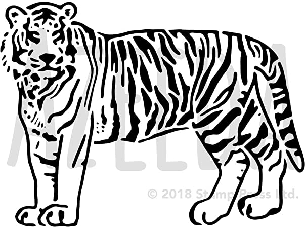 60 Tiger Shape Templates Crafts Colouring 0 12