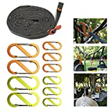 rope lanyard storage lanyard outdoor camping lanyard with hook outdoor camping lanyard D-ring lock hook durable light