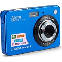 "AbergBest 21 Mega Pixels 2.7"" LCD Rechargeable HD Digital Camera Video Camera Digital Students Cameras,Indoor Outdoor for Adult/Seniors/Kid (Blue)"